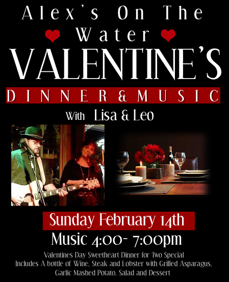 Valentine's Day Dinner and Music with Lisa & Leo @ Alex's on the Water | Oswego | New York | United States